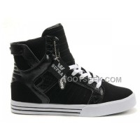 New Arrival Supra Skytop Black Pattern White Men's Shoes