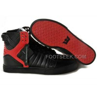 New Arrival Supra Skytop Black Red Men's Shoes