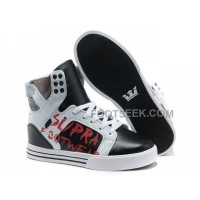 New Arrival Supra Skytop Black White Footwear Men's Shoes