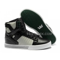 New Arrival Supra Skytop Black White Green Sole Men's Shoes