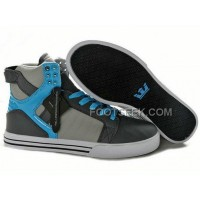New Arrival Supra Skytop Grey Blue Men's Shoes