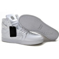 New Arrival Supra Skytop II All White Men's Shoes