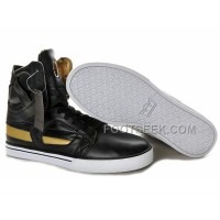 New Arrival Supra Skytop II Black Gold Men's Shoes