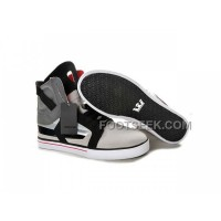 New Arrival Supra Skytop II Black Grey White Men's Shoes
