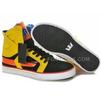 New Arrival Supra Skytop II Black Orange Yellow Men's Shoes