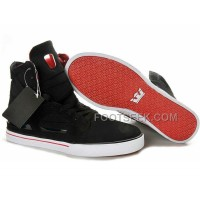 New Arrival Supra Skytop II Black Red Men's Shoes