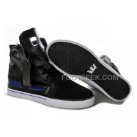 New Arrival Supra Skytop II Black White Purple Men's Shoes