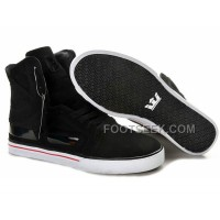 New Arrival Supra Skytop II Black White Red Men's Shoes