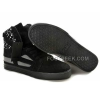New Arrival Supra Skytop II Black White Star Men's Shoes