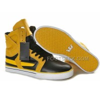New Arrival Supra Skytop II Black Yellow Men's Shoes