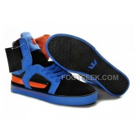 New Arrival Supra Skytop II Blue Black Orange Men's Shoes