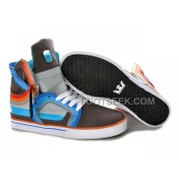 New Arrival Supra Skytop II Chocolate Blue Orange Men's Shoes