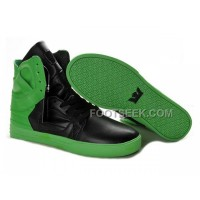 New Arrival Supra Skytop II Green Black Men's Shoes