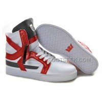 New Arrival Supra Skytop II White Red Grey Men's Shoes