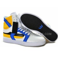 New Arrival Supra Skytop II White Yellow Blue Men's Shoes