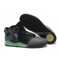 New Arrival Supra Skytop III Black Grey Green Men's Shoes