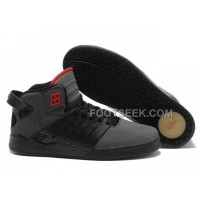 New Arrival Supra Skytop III Black Grey Red Men's Shoes
