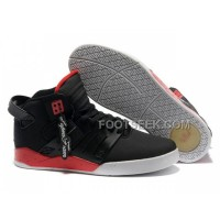 New Arrival Supra Skytop III Black Red Men's Shoes