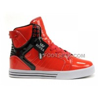 New Arrival Supra Skytop Red Black Men's Shoes