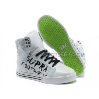 New Arrival Supra Skytop White Green Footwear Men's Shoes