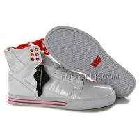 New Arrival Supra Skytop White Red Men's Shoes