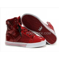 New Arrival Supra Skytop Wine Red Men's Shoes