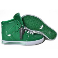 New Arrival Supra Vaider Green White Men's Shoes