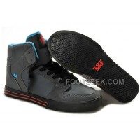 New Arrival Supra Vaider Grey Blue Red Men's Shoes