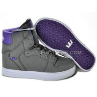 New Arrival Supra Vaider Grey Purple Men's Shoes