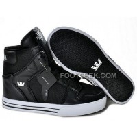 New Arrival Supra Vaider Mesh Black White Men's Shoes