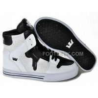 New Arrival Supra Vaider White Black Pore Men's Shoes
