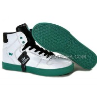 New Arrival Supra Vaider White Green Black Men's Shoes