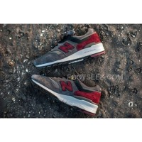 New Balance 997 Men Grey Red Cheap