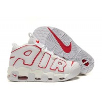Cheap Nike Air More Uptempo White University Red For Sale Discount