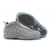"2015 Nike Air Foamposite One PRM ""Grey Suede"" Wolf Grey-White For Sale Discount"