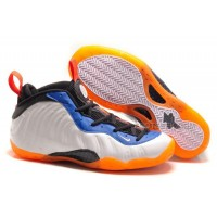 "For Sale Nike Air Foamposite One ""Knicks Home"" White/Bright Orange-Royal Blue Discount"