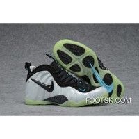 New Nike Air Foamposite Pro Pearl White Black-Teal Cheap To Buy