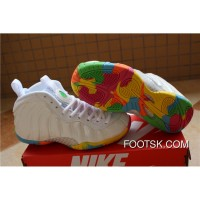 "Nike Air Foamposite One GS ""Fruity Pebbles"" White/Pink Foil-Cascade Blue-Poison Green 2015 New Release 7YcXj"