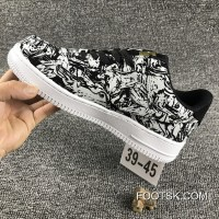 Nike Air Force 1 AF1 UPSTEP LOW BHM 920788 Zebra Shoes Free Shipping