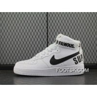 Authentic Force X Nike Air Force 1 High Af Sup White Black Women Shoes 698696-100 And 94 Men