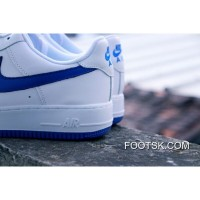Nike Air Force 1 Low White And Blue 17006 36 37 5 38 39 40 41 42 43 44 45 Full Grain Leather Super Deals