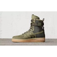 Nike Air Force 1 High Military Green Double Buckles Discount