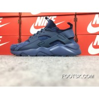 Nike Air Huarache Oven 4 Generation Pig Texture Leather Ultra Id Custom-Made Deep Blue Series 829669-829669 New Style