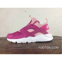 Nike Air Huarache Oven 4 Generation Pig Texture Leather Series Ultra Id Custom-Made Mei Red 829669-600 Top Deals