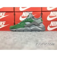 Nike Air Huarache Four 4 Generation Texture Pig Leather Series Ultra Id Ordering Model Of Grey Green 829669-664 Best