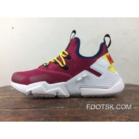Free Combination Nike Air Huarache Six S Of 6 Drift Wine Red And White Removable Strap Design Top Deals
