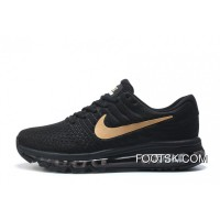 NIKE Air Max 2017 Flyknit Black Gold Free Shipping
