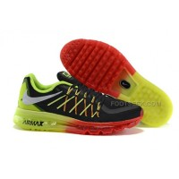 2015 Cheap Price Nike Air Max Mens Black Red/Neon Green Casual Shoes
