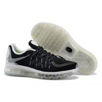 Cheap Nike Air Max 2015 Mens Black/Reflect Silver-White-Summit White Running Shoes