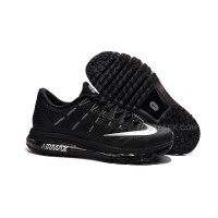 Nike Air Max 2016 Flyknit  All Black With White Swoosh For Sale
